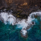 Rocky shore of the island of Tenerife. Aerial drone photo of ocean waves reaching shore - PhotoDune Item for Sale