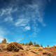 Teide National Park. The silhouette of the moon in the sky is visible during the day - PhotoDune Item for Sale