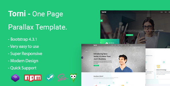 Torni - One Page Parallax Template