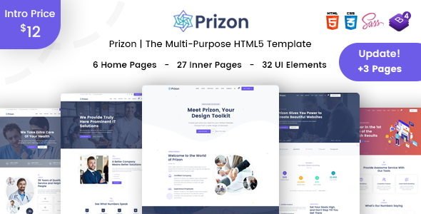 Prizon - Multipurpose html5 template for SASS