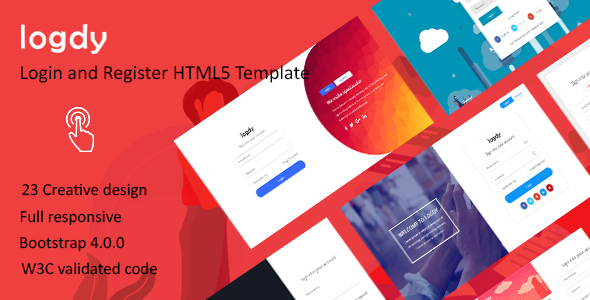 Logdy - Login and Register HTML5 Template