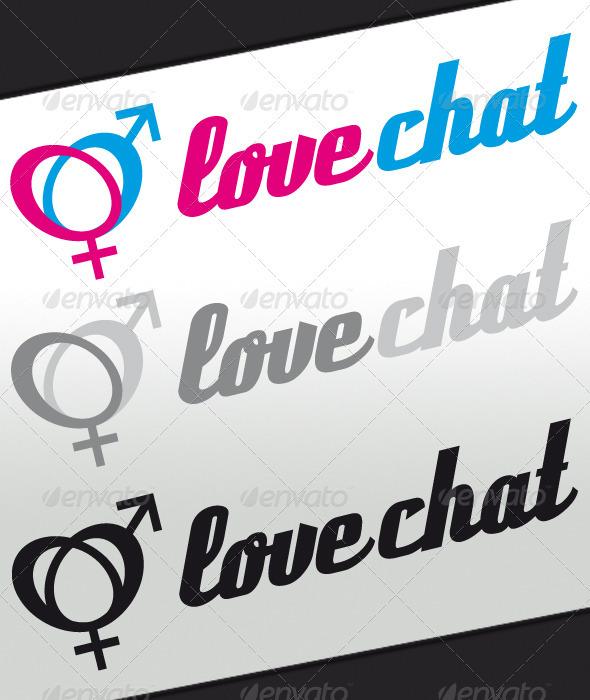 Love Chat Logo - Symbols Logo Templates