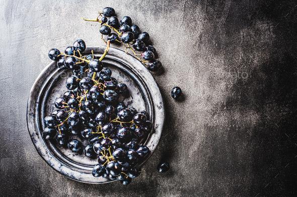 Fresh grape on dark backrground - Stock Photo - Images