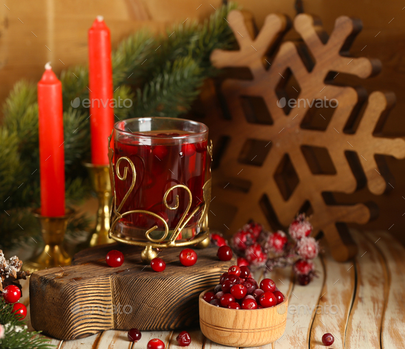 Cranberry Tea with Spices - Stock Photo - Images