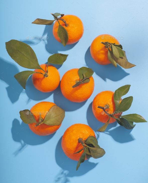 citrus orange ripe tangerine isolated on studio background - Stock Photo - Images