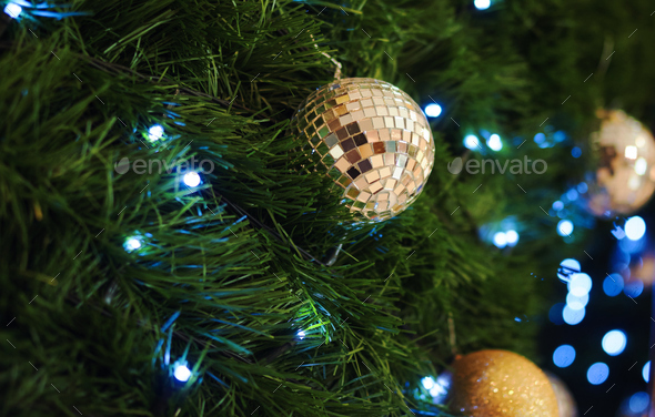 The ornament decoration christmas tree - Stock Photo - Images
