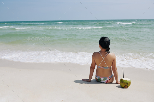Sunny day on the beach - Stock Photo - Images