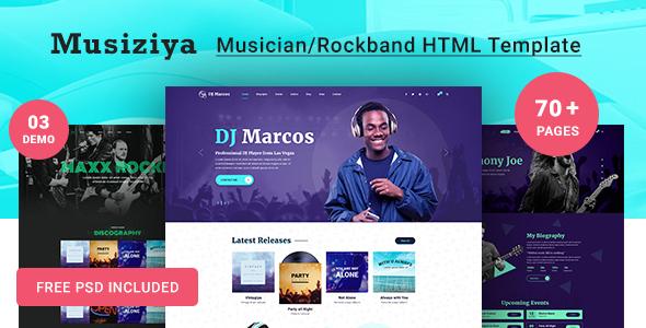 Musiziya - Musician HTML Template