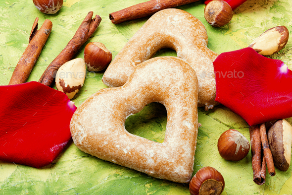 Heart shaped cookie - Stock Photo - Images