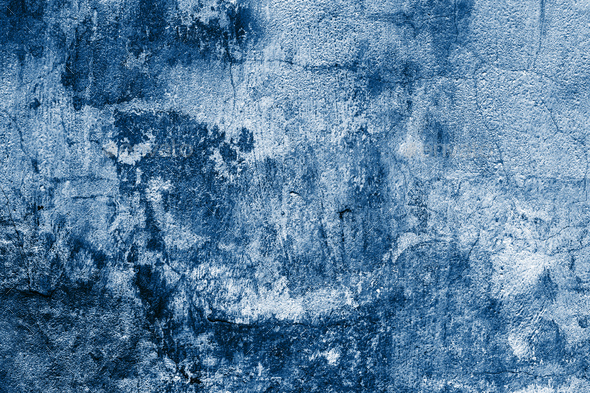 Old Blue Textured Shabby Wall. - Stock Photo - Images
