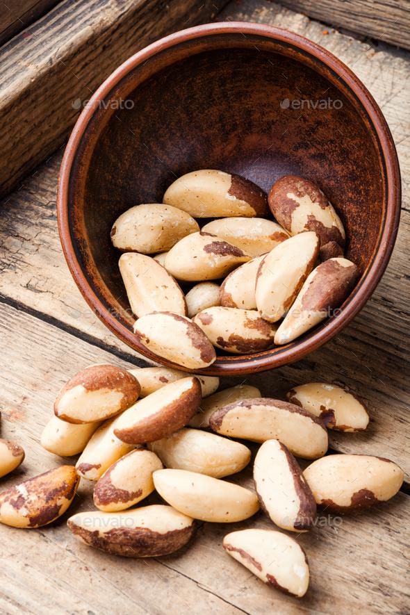 Brazil nut or Bertholletia - Stock Photo - Images