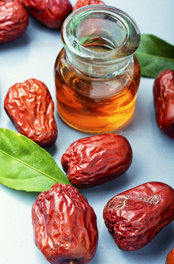 Dried unabi fruit or jujube - Stock Photo - Images