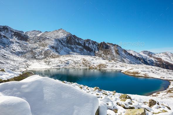 Winter lake - Stock Photo - Images