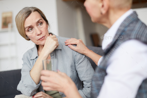 Mature Woman Talking to Therapist - Stock Photo - Images