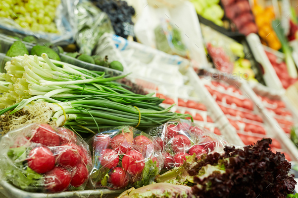Vegetable Stand at Farmers Market - Stock Photo - Images