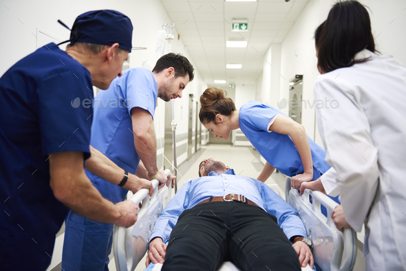 Emergency situation in the hospital - Stock Photo - Images