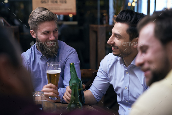 Time for beer with the best friends - Stock Photo - Images