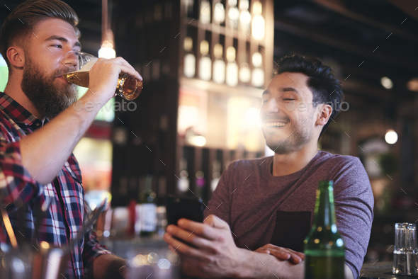 Time for beer with the best friend - Stock Photo - Images