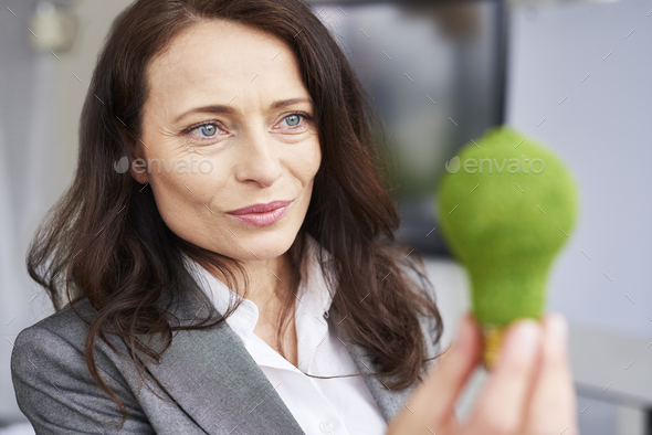 Close up of thoughtful businesswoman at work - Stock Photo - Images
