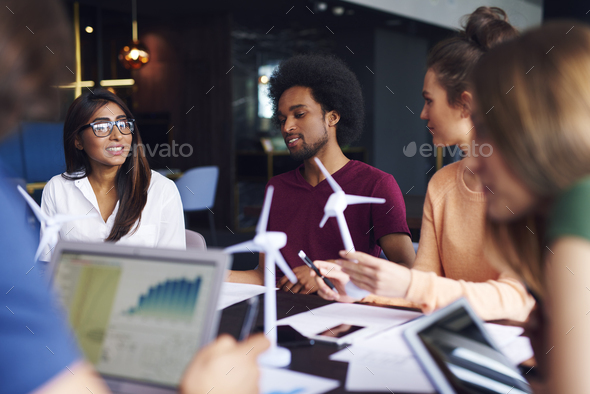 Busy day at conference table - Stock Photo - Images