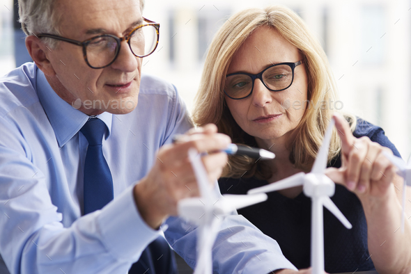 Close up of business couple working together - Stock Photo - Images