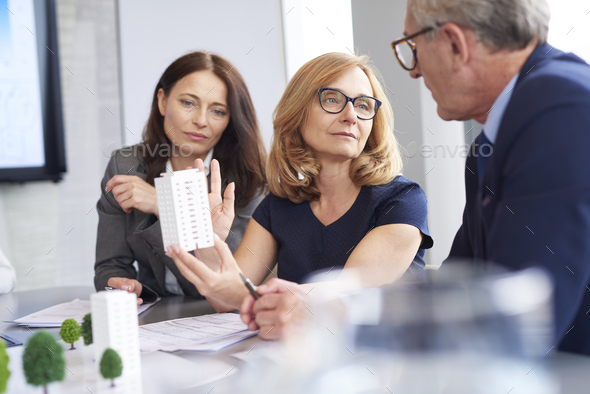 Three mature architects at work - Stock Photo - Images