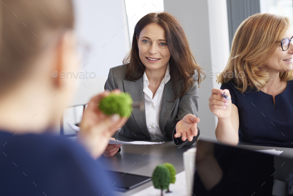 Casual business meeting in modern office - Stock Photo - Images