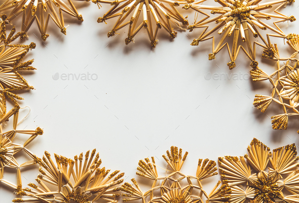 New Year's straw toys - Stock Photo - Images