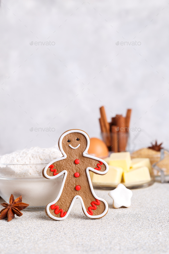 Ginger man cookie - Stock Photo - Images