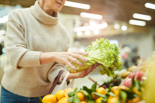 Unrecognizable Woman Buying Fresh Vegetables at Market - Stock Photo - Images