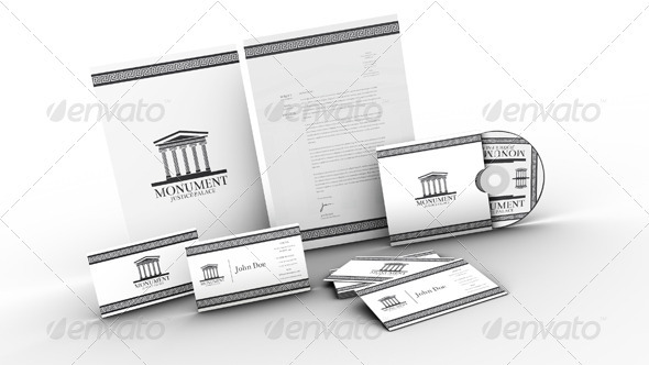 Monument - Clean Business Identity Pack - Stationery Print Templates