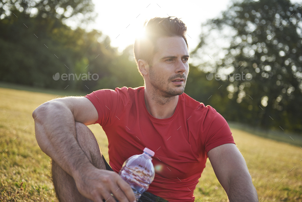 After workout on the fresh air - Stock Photo - Images