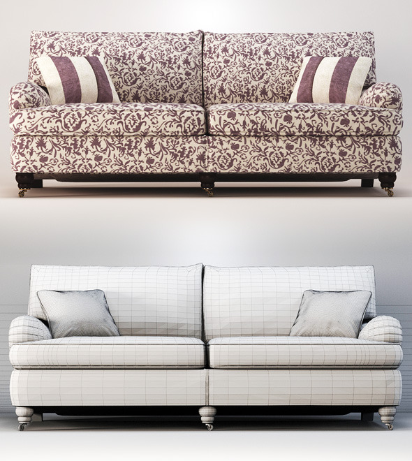 Quality 3dmodel of sofa Lansdowne. Duresta - 3DOcean Item for Sale