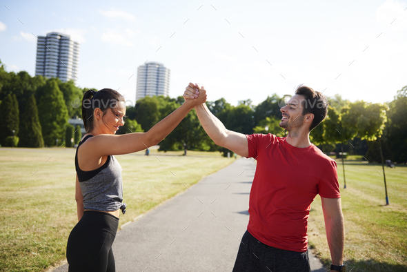 It was really great workout - Stock Photo - Images