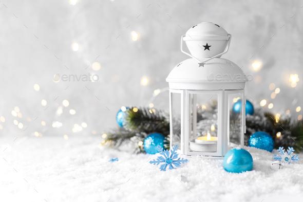 Christmas Lantern - Stock Photo - Images