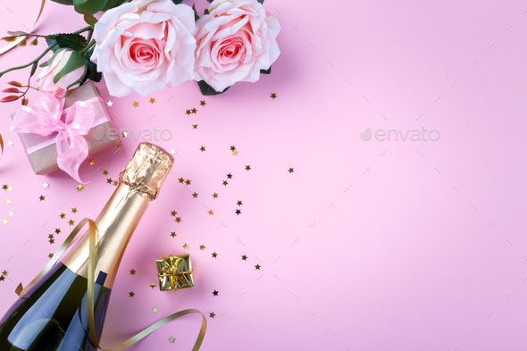 Valentine's day romantic background - Stock Photo - Images
