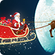 Santa Claus Riding Reindeer Sleigh on Sky Crossing Moon - VideoHive Item for Sale