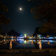 Full moon over Cat Ba Vietnam City at night - PhotoDune Item for Sale