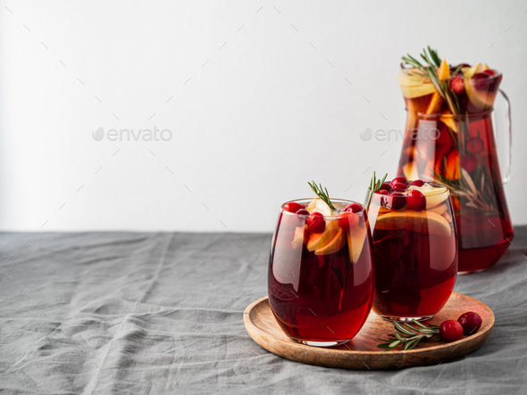 Winter sangria, copy space - Stock Photo - Images
