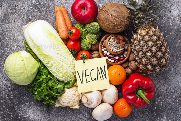 Set of different vegetarian and vegan  products. - Stock Photo - Images