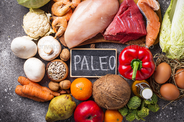 Healthy products for paleo diet - Stock Photo - Images