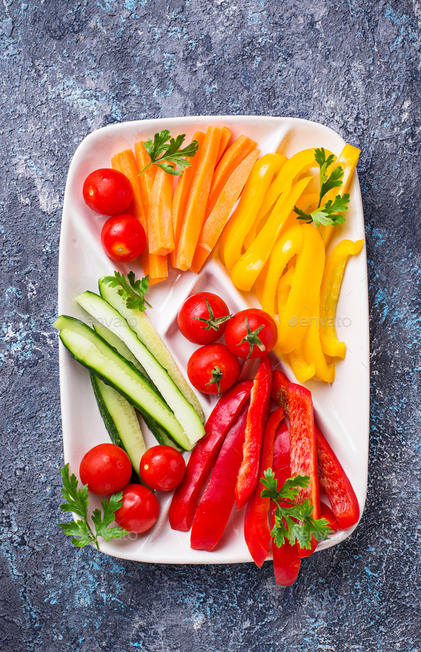 Fresh vegetables stick. Healthy appetizers - Stock Photo - Images