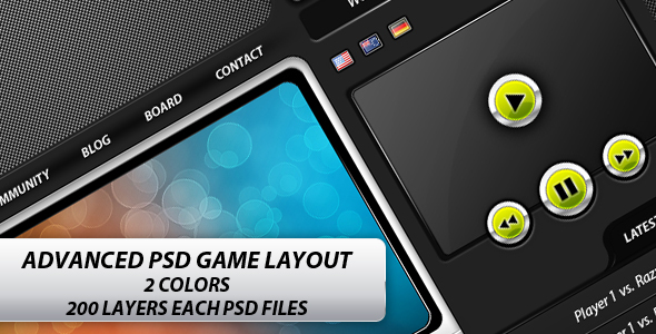 Free Download Advanced Game PSD Layout - Clan website Nulled Latest Version