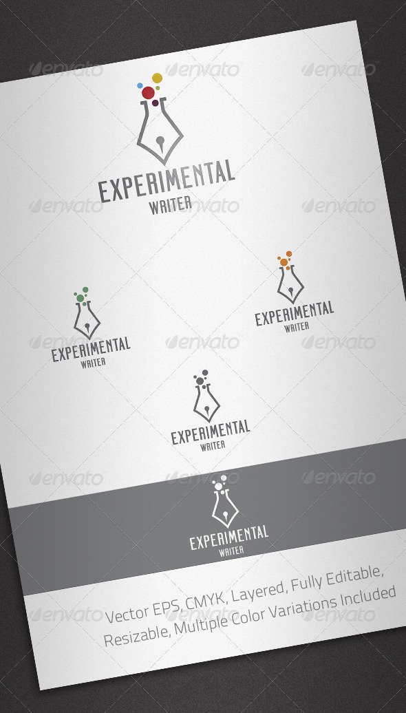 Experimental Writer Logo Template - Objects Logo Templates