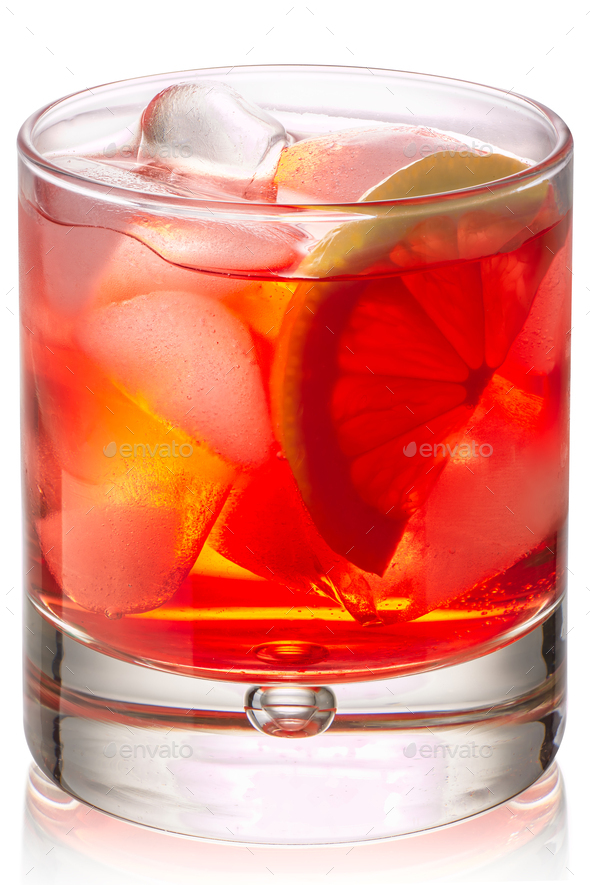 Spritz veneziano cocktail glass, paths - Stock Photo - Images