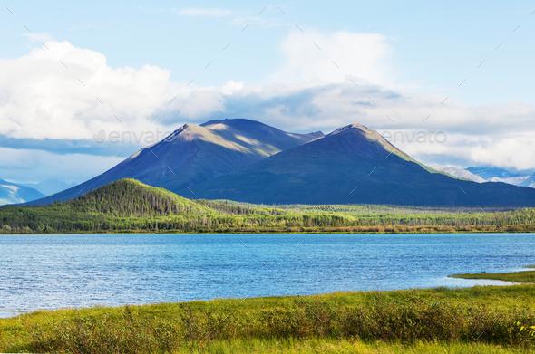 Lake in Alaska - Stock Photo - Images