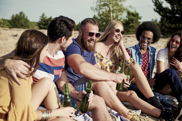 Friends spending good time together - Stock Photo - Images