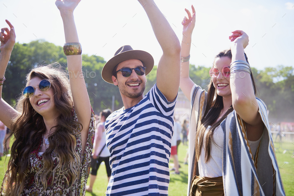 Summer time at the music festival - Stock Photo - Images