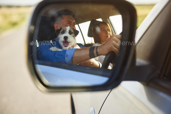 Detail of summer road trip - Stock Photo - Images
