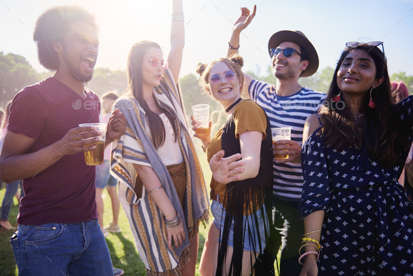 Meeting of the best friends on the party - Stock Photo - Images